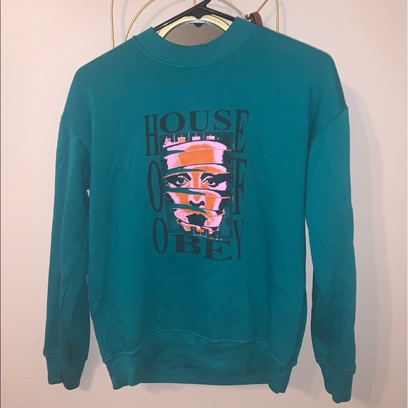 Obey House Of Obey Sweatshirt - Teal